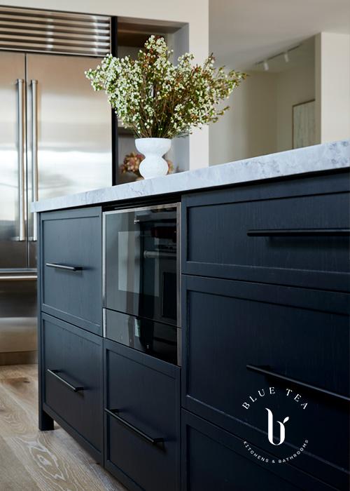 Summer Hill Kitchen Design kitchen island with wine fridge
