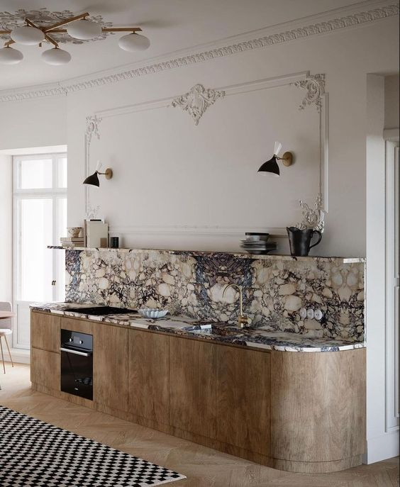Art deco luxury minimal kitchen